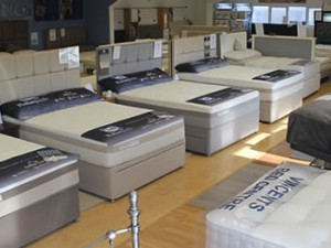 We have plenty of beds in our Showroom