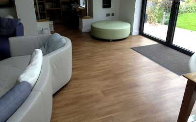 Amtico Wood Plank and Vinly Tile installation in Walton on Thames