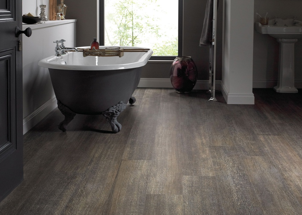 bathroom floors wood
