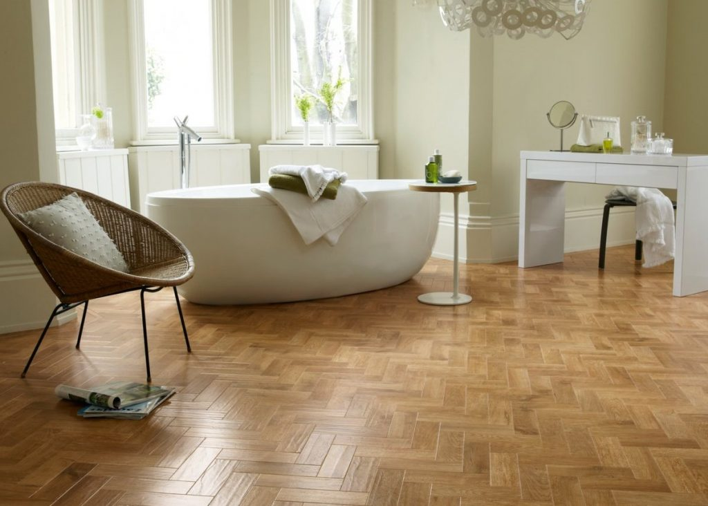 bathroom floors parquet