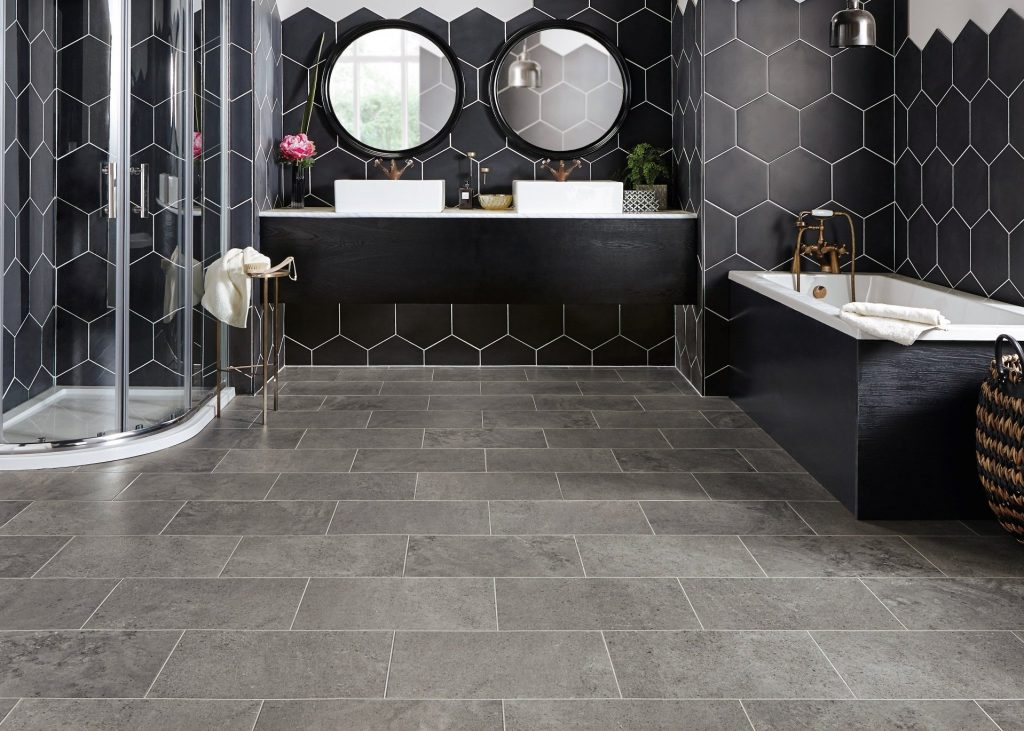bathroom floors stone