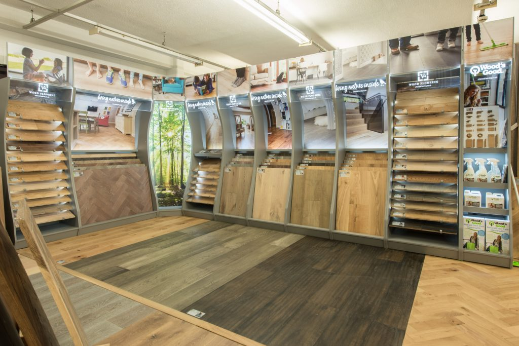 v4 wood flooring display